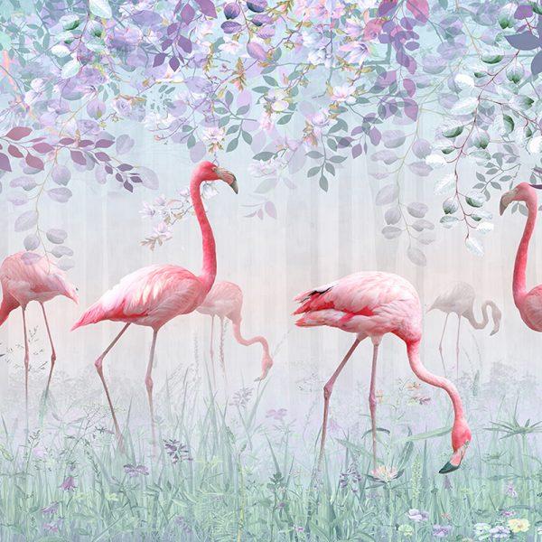 Фламинго в лесу