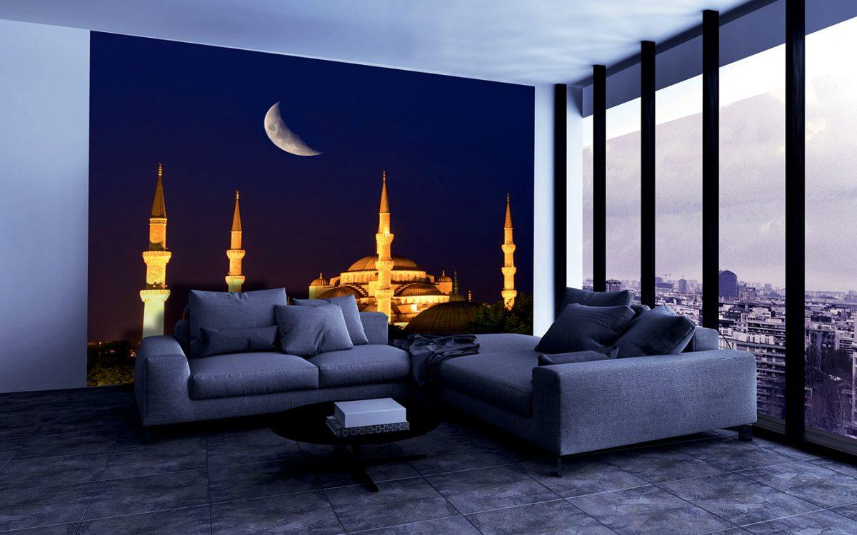 Фотообои Голубая мечеть под луной