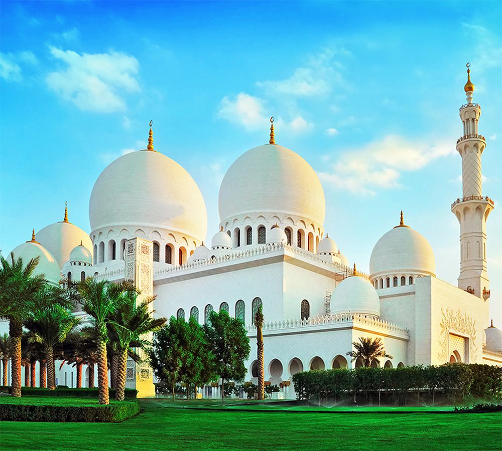 Фотообои Мечеть шейха Зайда на рассвете
