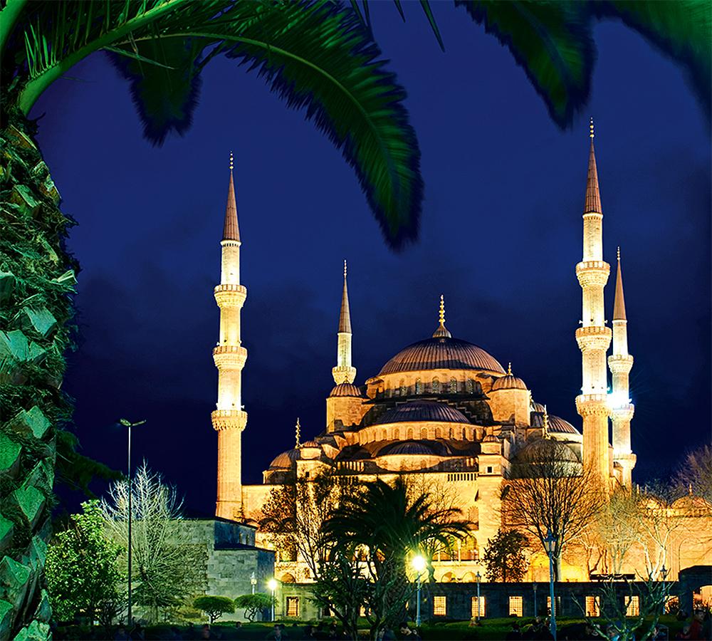 Фотообои Вид на голубую мечеть
