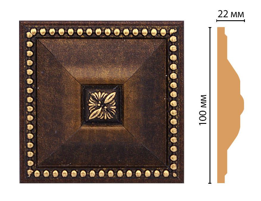 Вставка цветная DECOMASTER D209-56 (100*100*22мм)