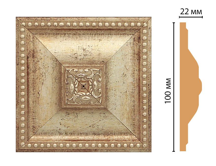 Вставка цветная DECOMASTER D209-127 (100*100*22мм)