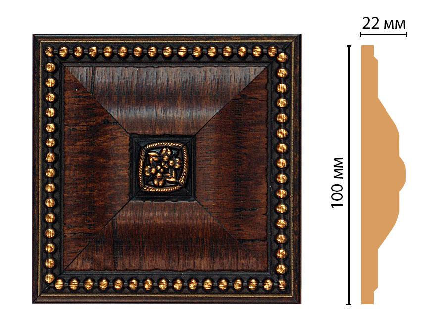 Вставка цветная DECOMASTER D209-2 (100*100*22мм)