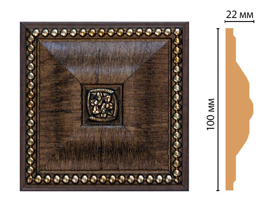 Вставка цветная DECOMASTER D209-3 (100*100*22мм)