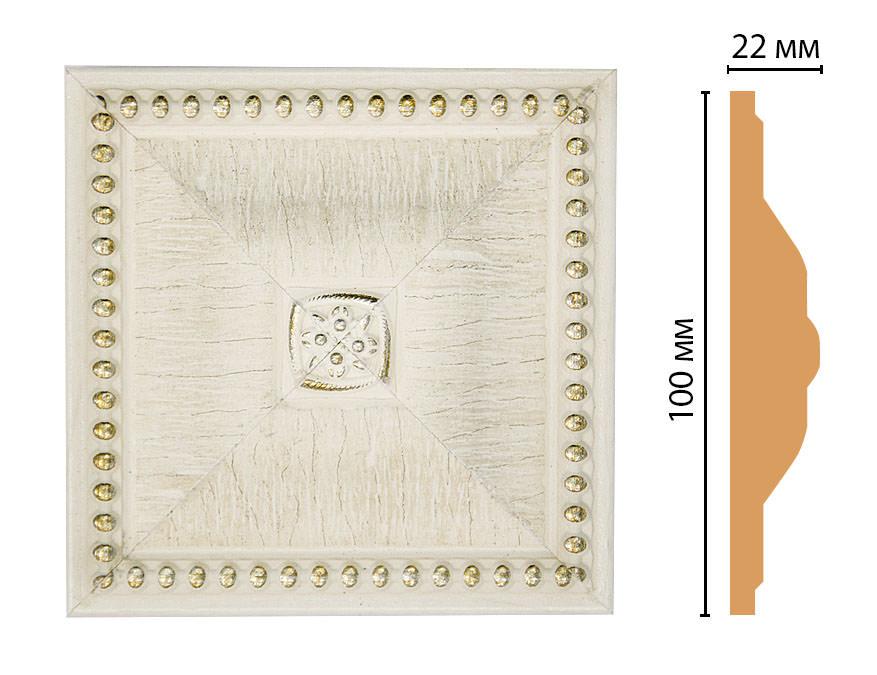 Вставка цветная DECOMASTER D209-6 (100*100*22мм)