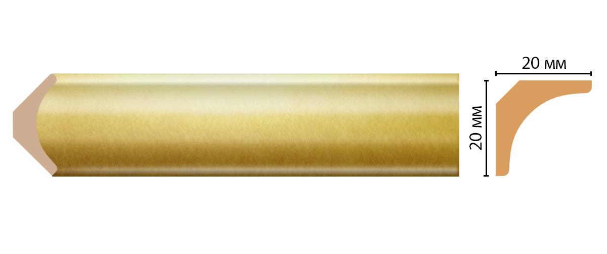 Плинтус потолочный DECOMASTER D133-374ДМ (20*20*2400мм)