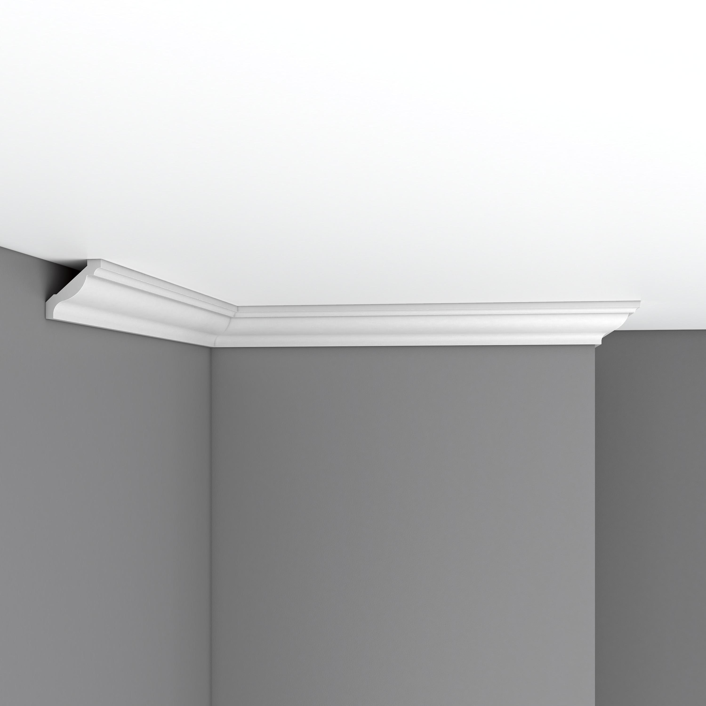 Плинтус потолочный гладкий DECOMASTER 96015F гибкий (40*40*2400мм)