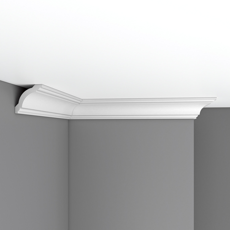 Плинтус потолочный гладкий DECOMASTER 96110F гибкий (60*60*2400мм)