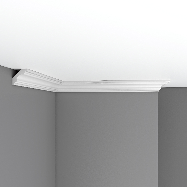 Плинтус потолочный гладкий DECOMASTER 96159F гибкий (41*41*2400мм)