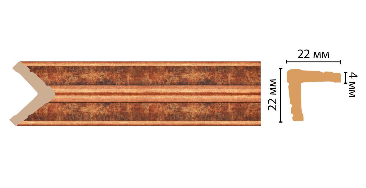 Угол DECOMASTER 116S-767ДМ (22*22*2400мм)