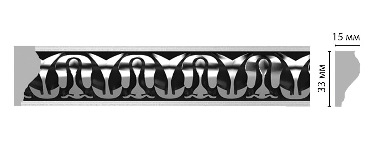 Молдинг с рисунком DECOMASTER 101B-63ДМ (33*15*2400мм)