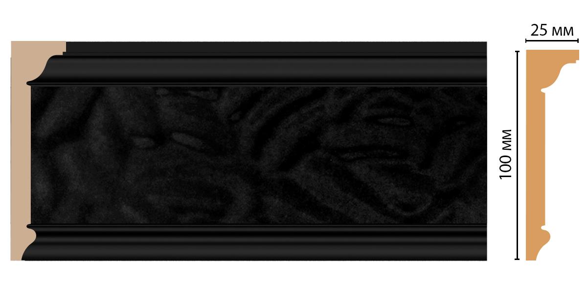Плинтус потолочный DECOMASTER D215-195 (100*25*2400мм)