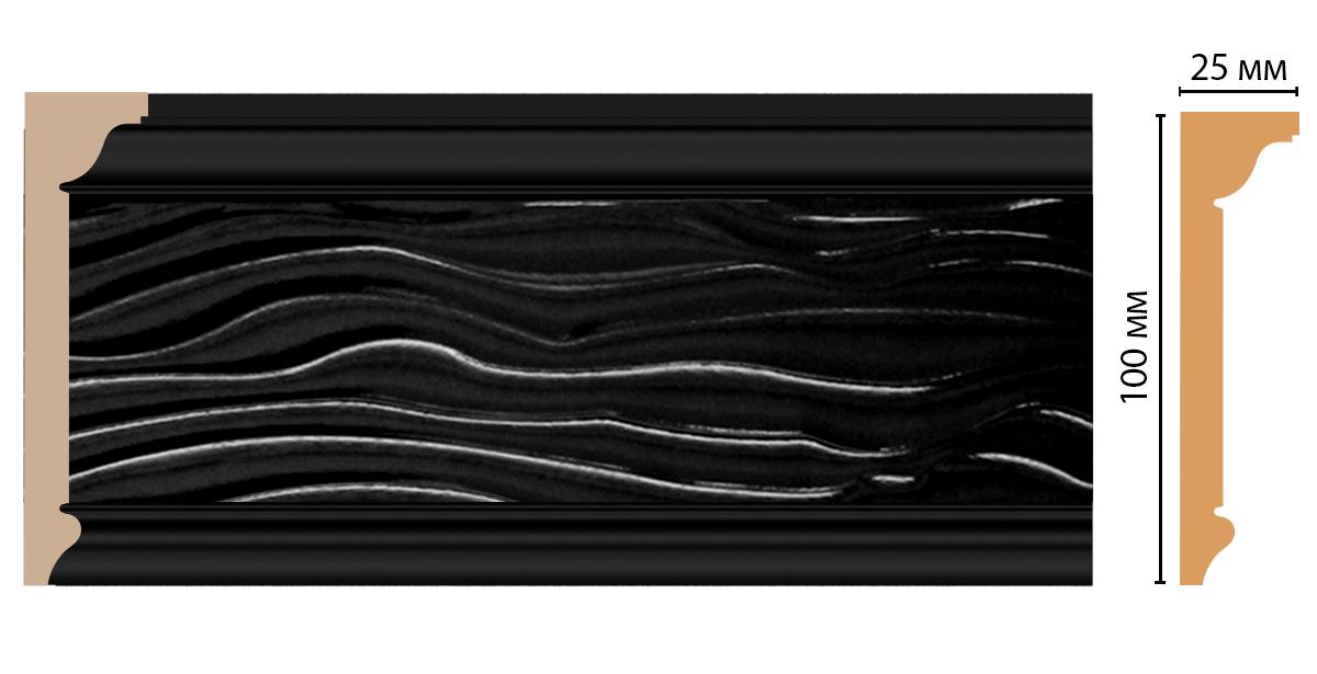 Плинтус потолочный DECOMASTER D218-195 (100*25*2400мм)