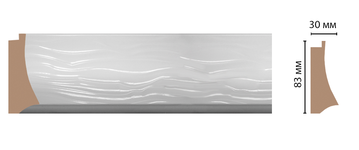 Багет DECOMASTER 552C-114 (83*30*2900мм)