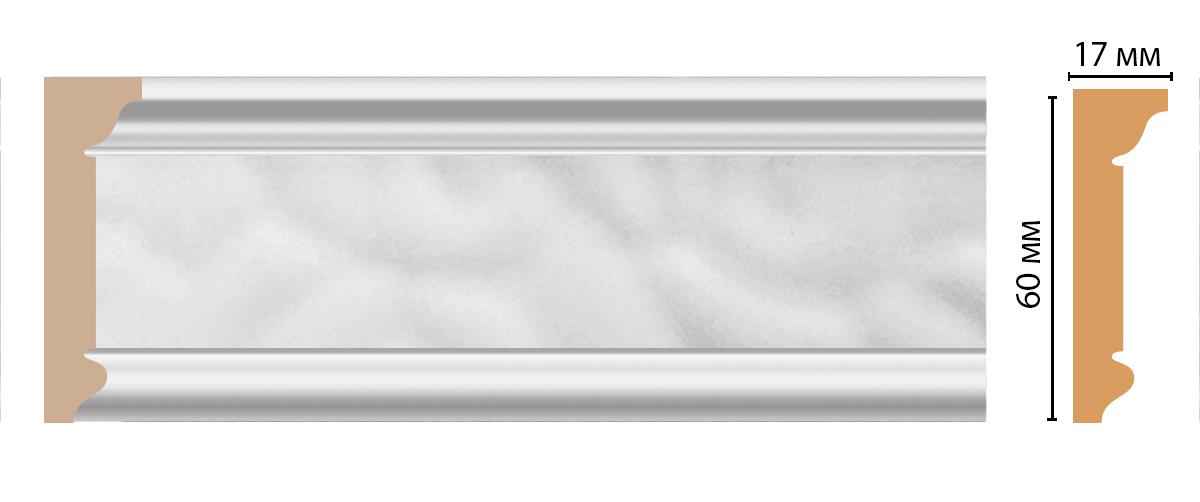 Плинтус потолочный DECOMASTER D216-114 (60*17*2400мм)