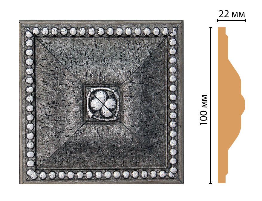 Вставка цветная DECOMASTER D209-44 (100*100*22мм)