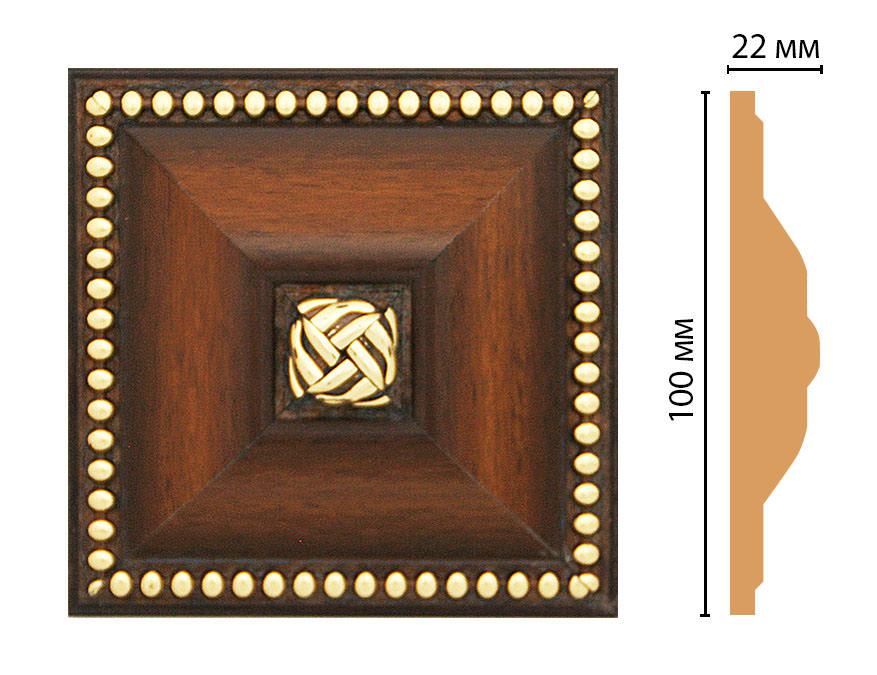 Вставка цветная DECOMASTER D209-51 (100*100*22мм)