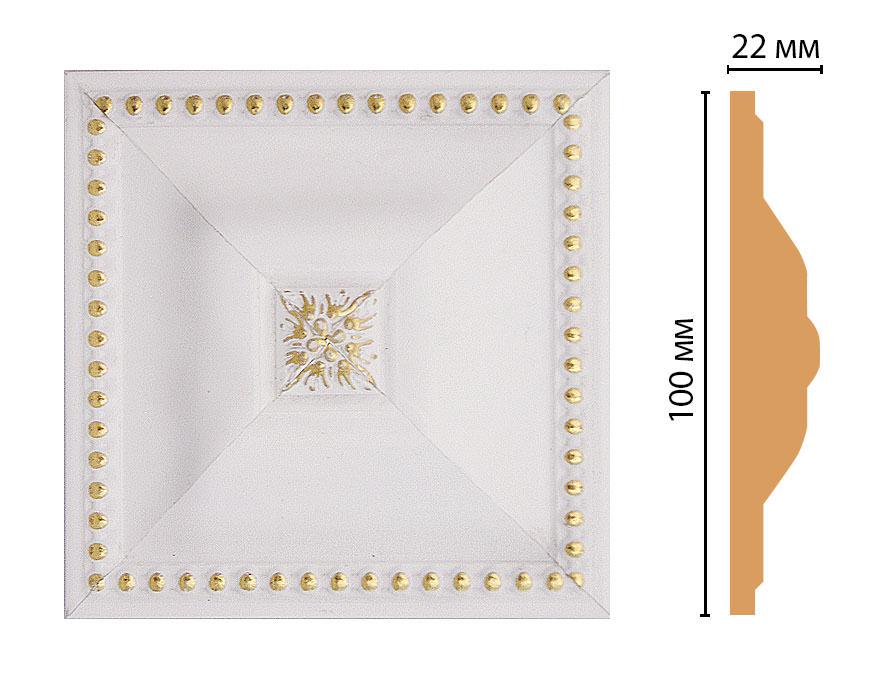 Вставка цветная DECOMASTER D209-54 (100*100*22мм)
