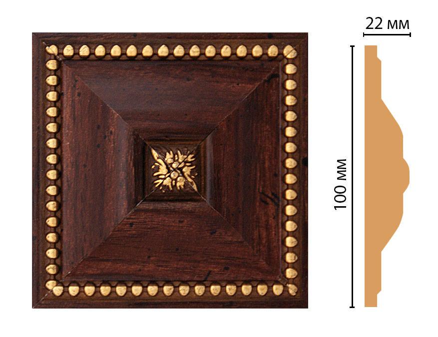 Вставка цветная DECOMASTER D209-1084 (100*100*22мм)