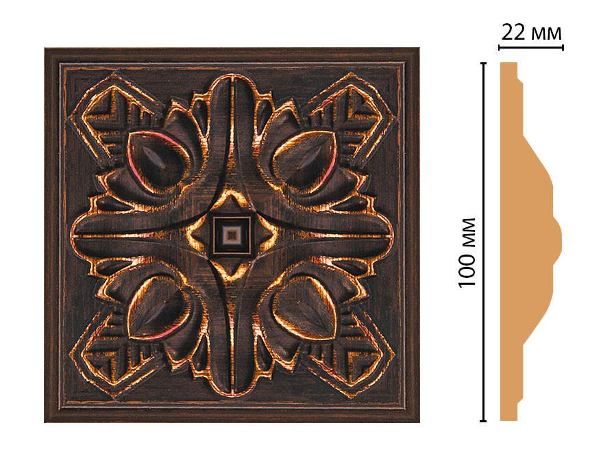 Вставка цветная DECOMASTER D209-966 (100*100*22мм)