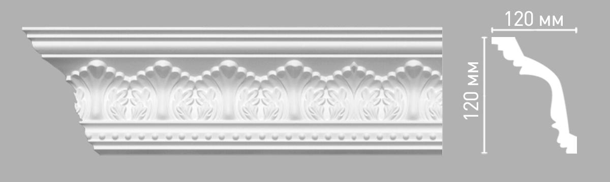 Плинтус потолочный с рисунком DECOMASTER 95025 (120х120х2400мм)