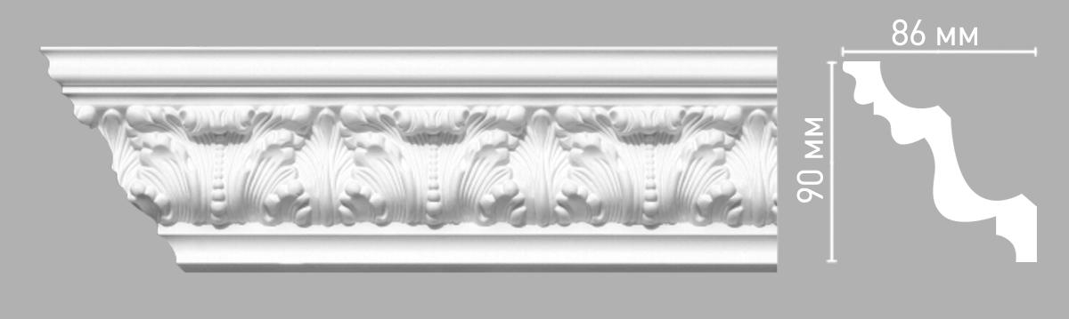 Плинтус потолочный с рисунком DECOMASTER 95027 (90х86х2400мм)