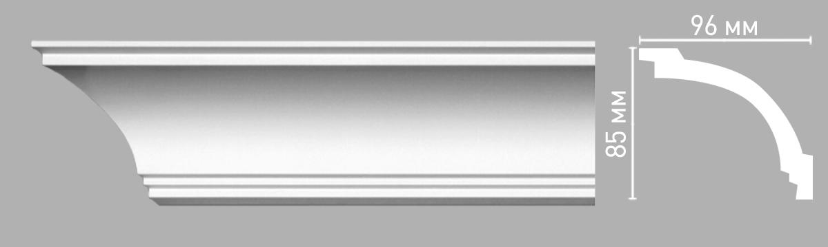 Плинтус потолочный гладкий DECOMASTER 96262 (85х96х2400мм)