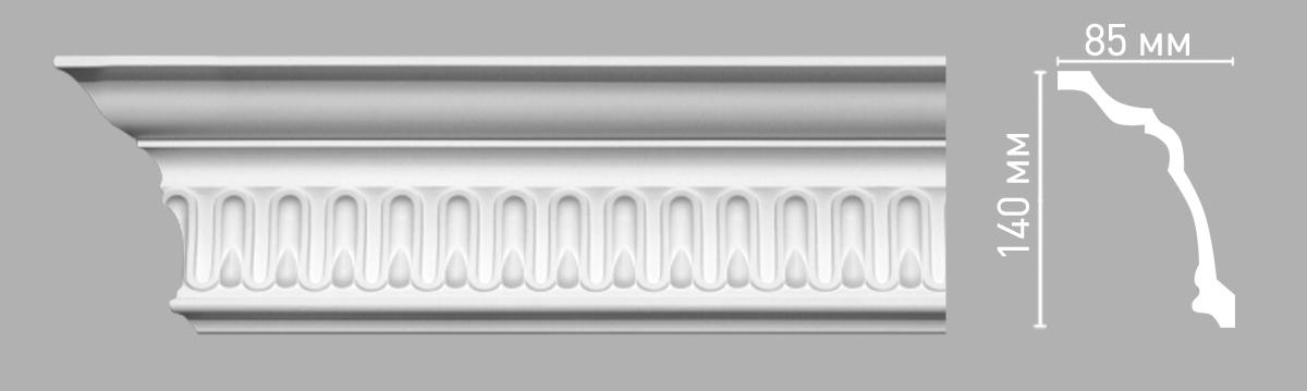 Плинтус потолочный с рисунком DECOMASTER 95093 (140х85х2400мм)