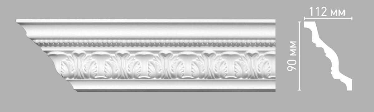 Плинтус потолочный с рисунком DECOMASTER 95095 (90х112х2400мм)