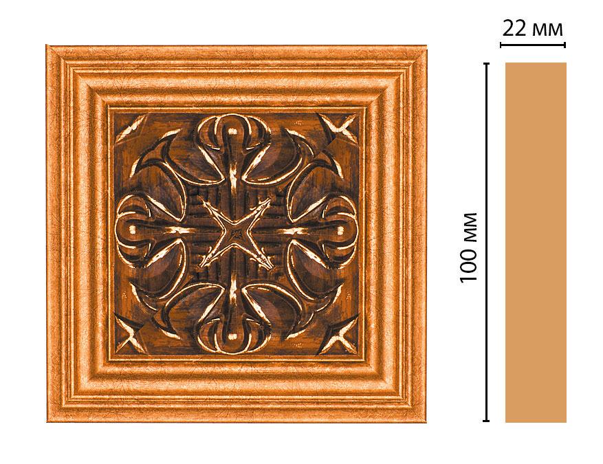 Вставка цветная DECOMASTER D207-1223 (100*100*22мм)