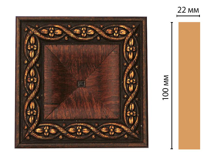 Вставка цветная DECOMASTER D207-2 (100*100*22мм)