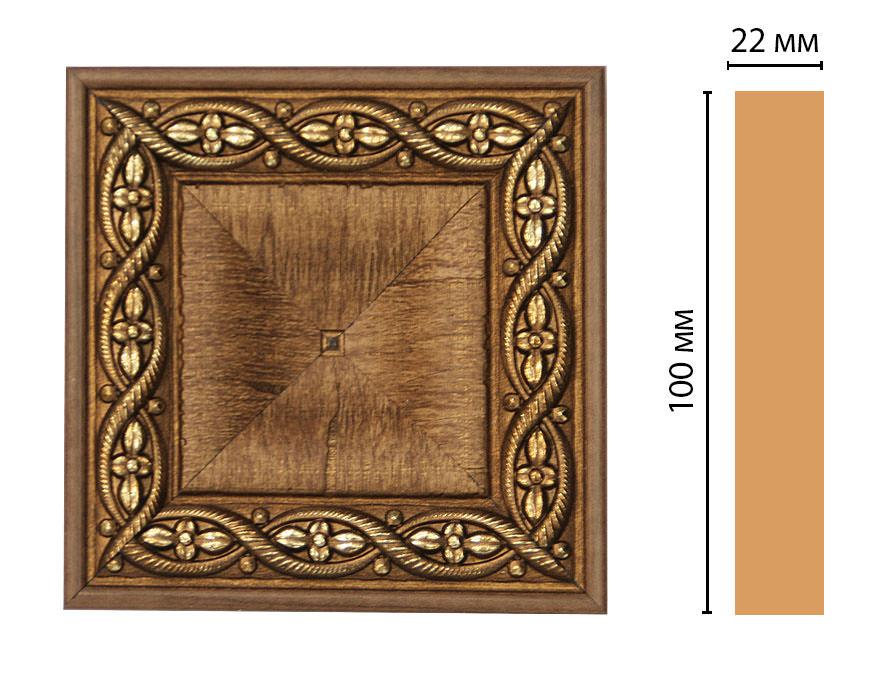 Вставка цветная DECOMASTER D207-3 (100*100*22мм)
