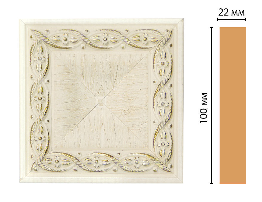 Вставка цветная DECOMASTER D207-6 (100*100*22мм)