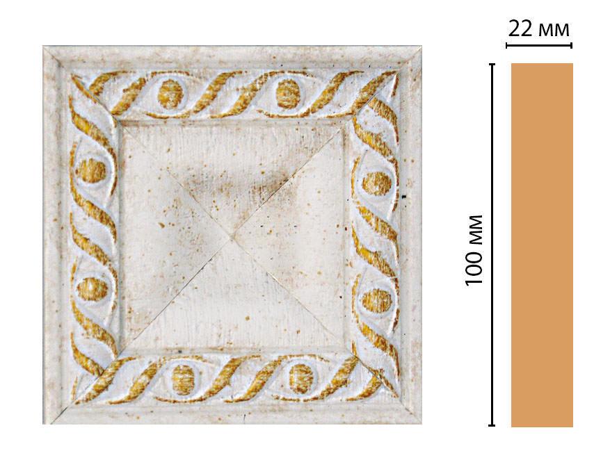 Вставка цветная DECOMASTER D207-40 (100*100*22мм)