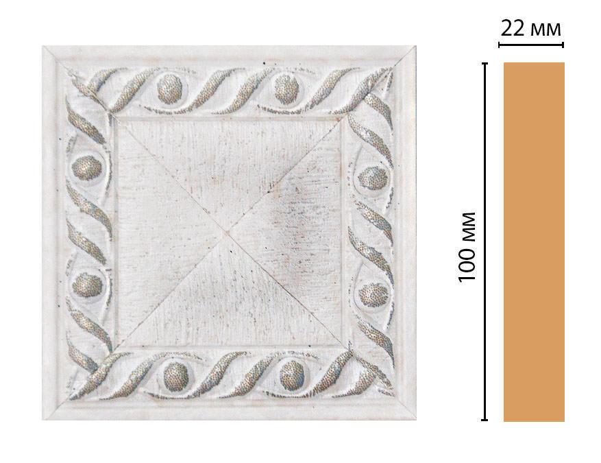 Вставка цветная DECOMASTER D207-42 (100*100*22мм)