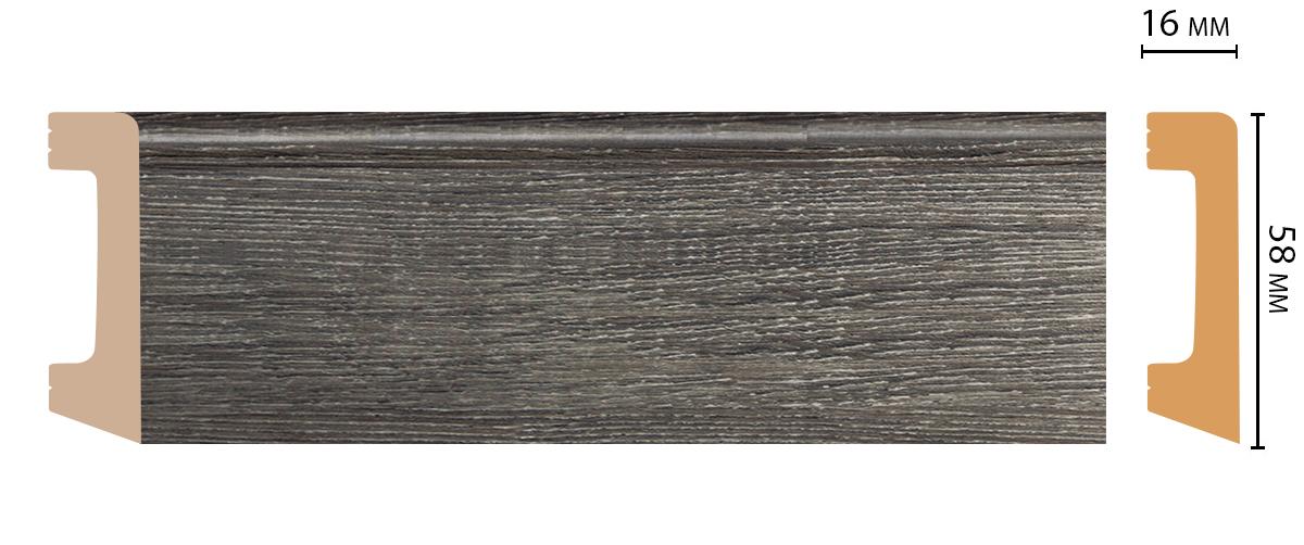Плинтус напольный DECOMASTER D234-87ДМ (58*16*2400 мм)