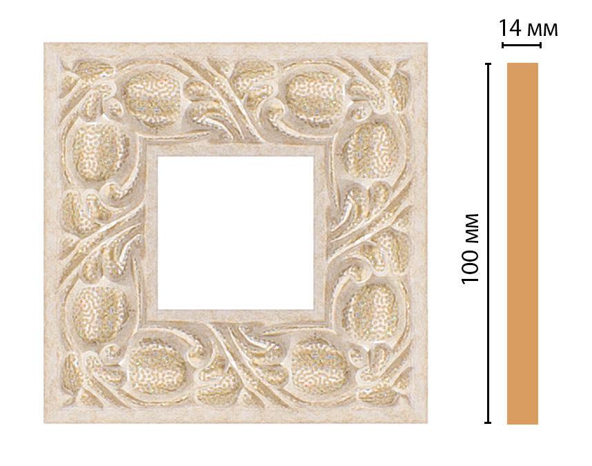 Вставка цветная DECOMASTER 157-2-18D (100*100*14мм)