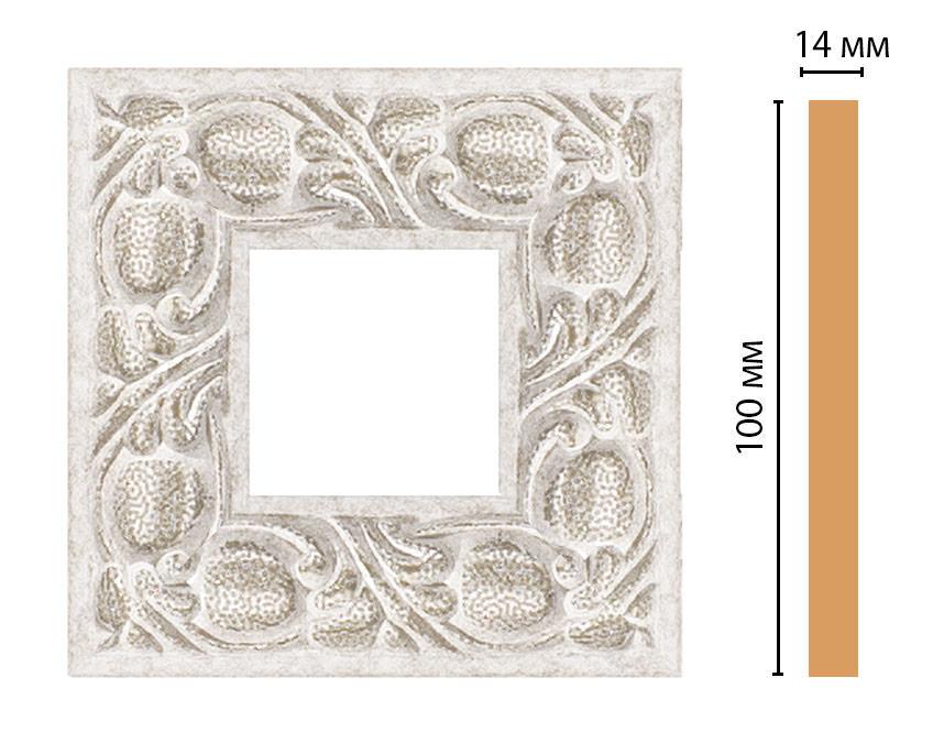 Вставка цветная DECOMASTER 157-2-19D (100*100*14мм)