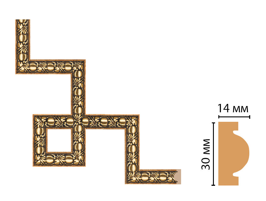 Декоративный угловой элемент DECOMASTER 157-3-57 (300*300мм)