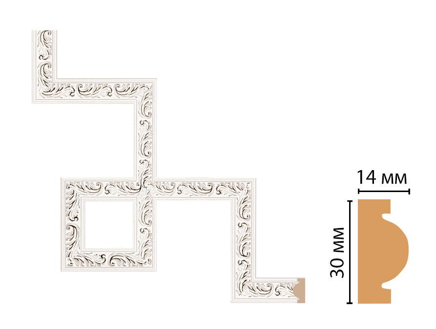 Декоративный угловой элемент DECOMASTER 157-3-60 (300*300мм)