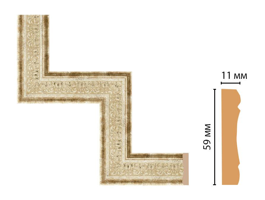 Декоративный угловой элемент DECOMASTER 164-1-127 (300*300мм)