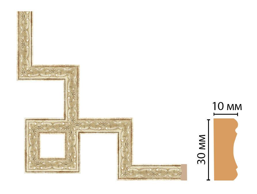 Декоративный угловой элемент DECOMASTER 165-3-127 (300*300мм)