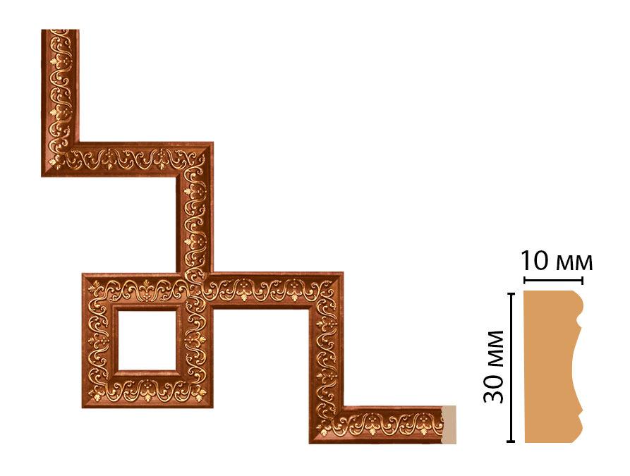 Декоративный угловой элемент DECOMASTER 165-3-767 (300*300мм)