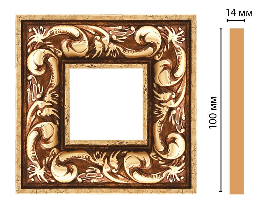 Вставка цветная DECOMASTER 157-2-552 (100*100*14мм)