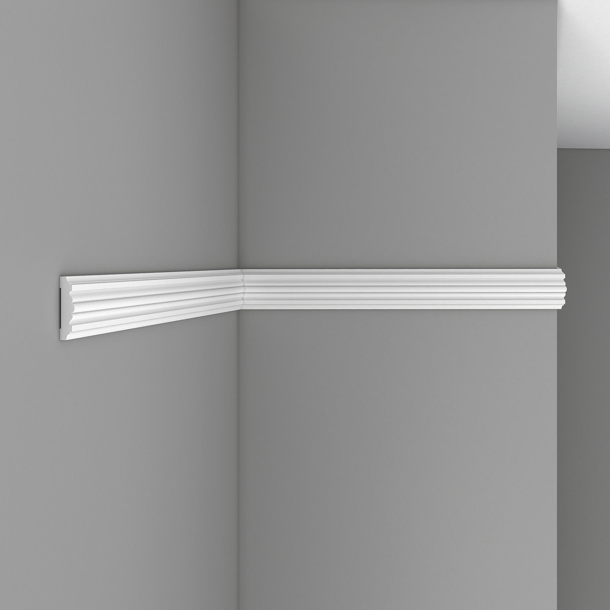Молдинг гладкий DECOMASTER 97615F гибкий (50*12*2400мм)