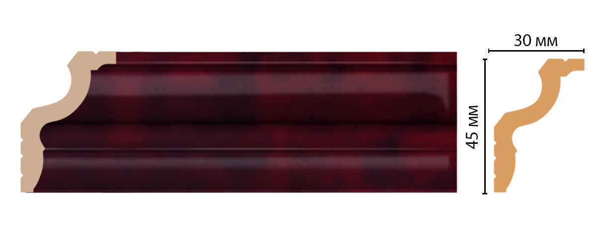 Плинтус потолочный DECOMASTER D148-62ДМ (45*30*2400мм)