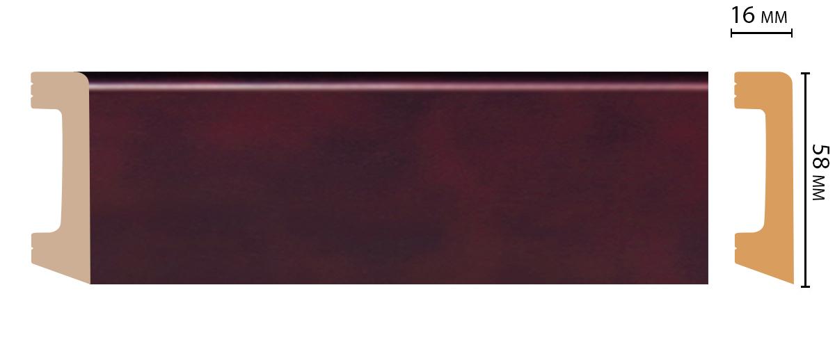 Плинтус напольный DECOMASTER D234-62 ШК/15 (58*16*2400мм)