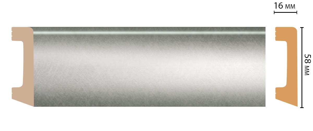 Плинтус напольный DECOMASTER D234-375 ШК/15 (58*16*2400мм)