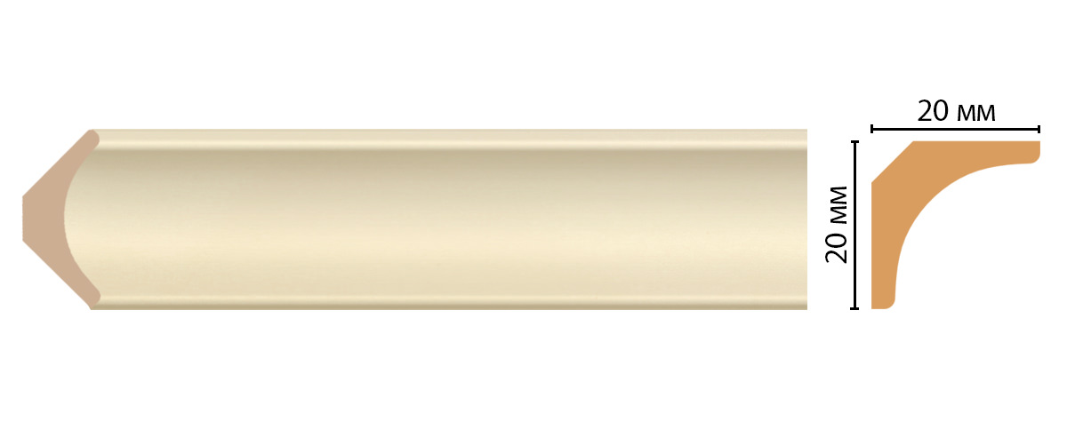 Плинтус потолочный DECOMASTER D133-61ДМ (20*20*2400мм)