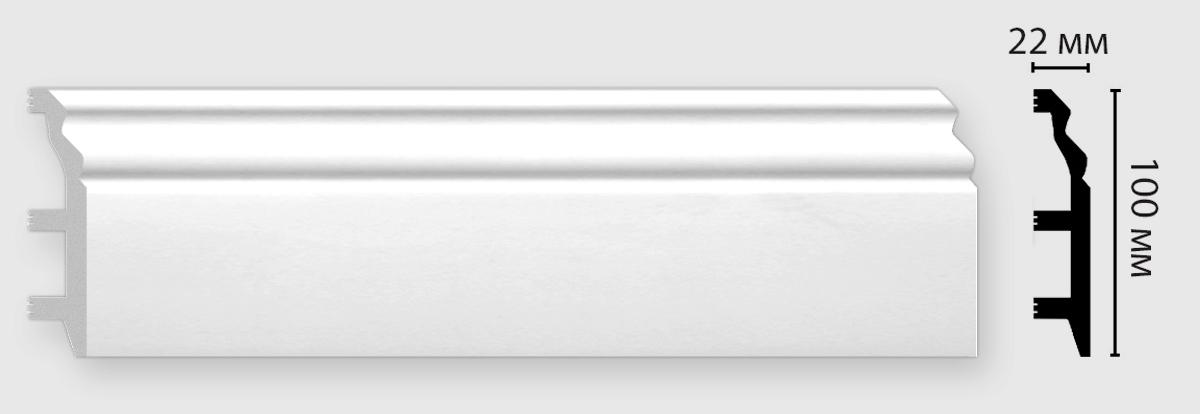 Плинтус напольный DECOMASTER D232-115ДМ (100*22*2400мм)